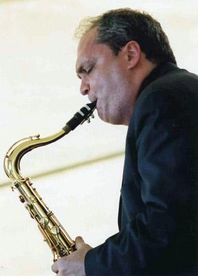 Ken Peplowski. Amerikansk toppsolist som  sattes på plats av Esbjörn Svensson  trio under en jamkväll. Foto: Gunnar Holberg