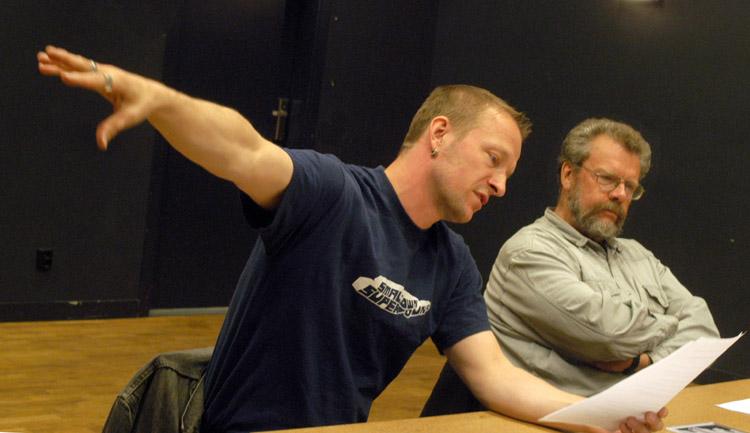 Parhhästarna Mats Gustafsson och Lennart Nilsson. Foto: Gunnar Holmberg