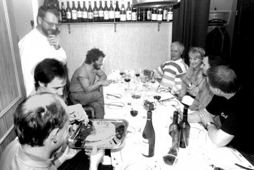 Göran Klinghagen, Joakim Milder, Lennart, Palle Danielsson, Jan Allan, Lena Willemark, Bobo Stenson, Rune Carlsson. Foto: Gunnar Holmberg