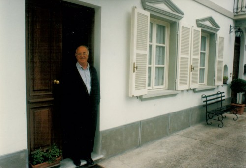 Aldo Conterno framför sin egendom Il Favot. Foto: Gunnel Arvidson Nilsson